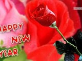 happy new year with rose flowers