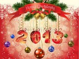 merry christmas 2013 and happy new year greeting cards