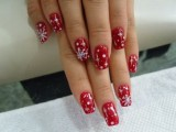 Red Short Nail Designs for Wedding