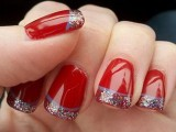Red crismiss nail designs for girls