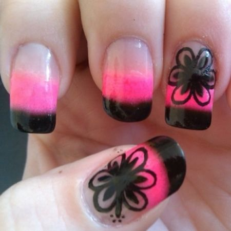Pink n black nail designs beautify themselves with sweet nails cute pink nail designs picture size 554x533 posted by nail design prinsesfo Gallery