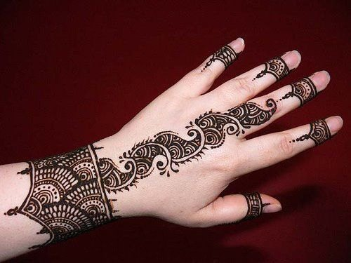 Upper limb Mehndi Designs fashion 2013