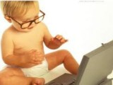 cute baby with laptop pictures