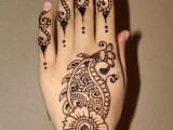 Back Hand Mehndi Art