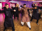 Boxer Amir Khan dancing on his own marriage
