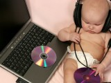 baby operating computer pictures