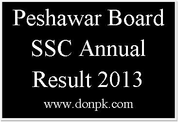 Peshawar Board SSC Annual Examination Result