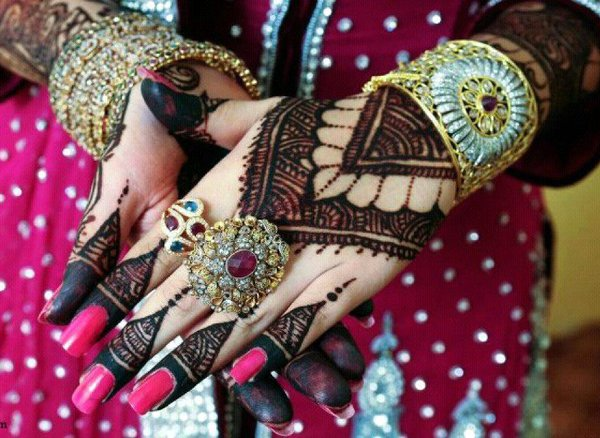 asian latest bridal mahndi designs