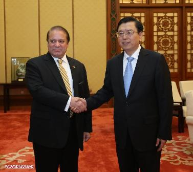 nawaz Sharif meeting with Zhang Dejiang
