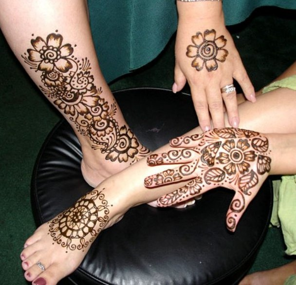 Mehndi Designs New Models : New stylish arabic mehndi designs for hands and feet