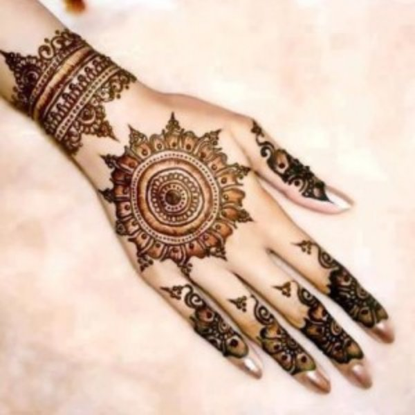 New Fashion Trend Circular Mehndi Designs for Eid ul Fitar