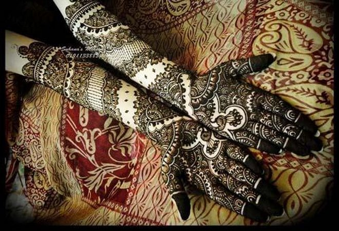 pakistani Wedding Mehndi Art 2013