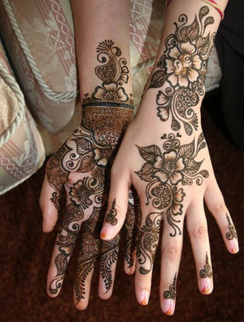 Wedding Mehndi Designs Arabic for hands