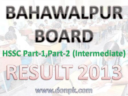 Bise Bahawalpur Board Inter Part-I Result 2013