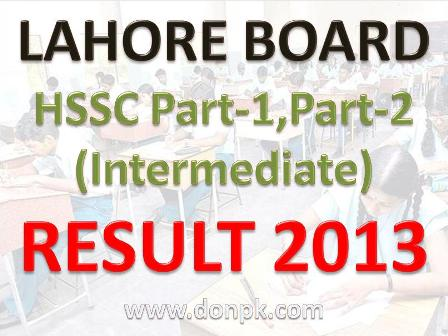 Lahore board 11th Class result 2013