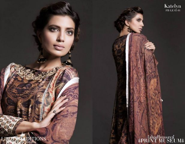 Fahad hussayn Print Museum Edition for women