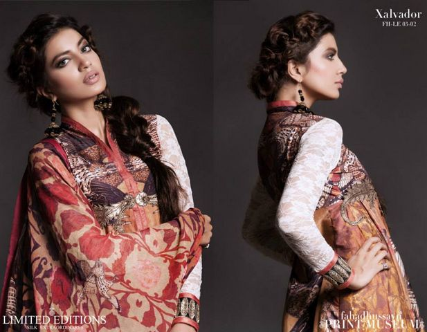 Fahad hussayn Print Museum Edition latest dresses