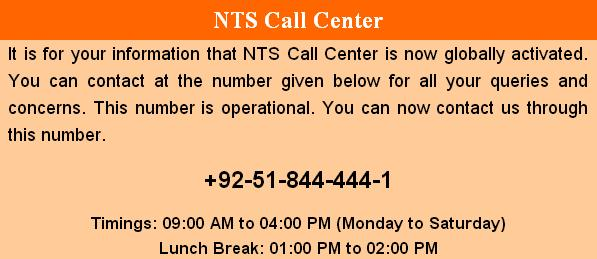 NTS Call Center Number and Offices Addresses with Detail