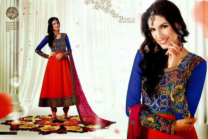 Latest Bollywood Actress Anarkali Stylish Frocks 2013-2014
