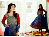 Bollywood Actress Anarkali Embroidered Frocks 2013-2014
