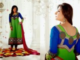 Bollywood Actress Anarkali Embroidered Frocks For 2013-2014