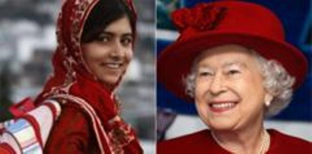 Malala meets with queen Elizabeth