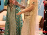 Bridal Frock in White and Green colors