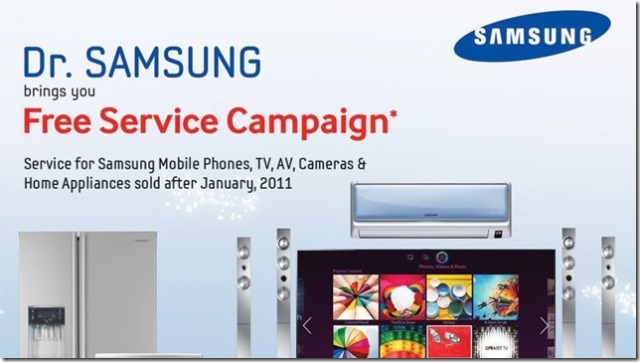 Dr.Samsung Free Service campaign in Pakistan