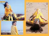 yellow color khaddar dresses