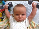 baby doing excercise wallpapers