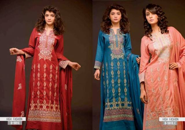 Sitara Textile High Fashion Embrpodery dresses 2014 for Women