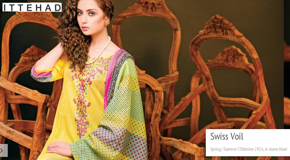 Feminine Lawn Dress Collection 2014 For Women