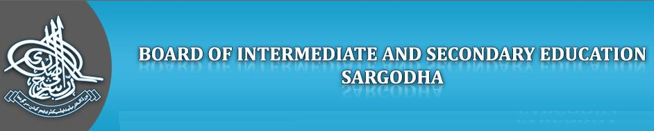 Bise Sargodha Board Inter Part-II Roll NO Slips 2014