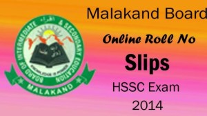 Bise Malakand Board HSSC Intermediate Roll No Slips