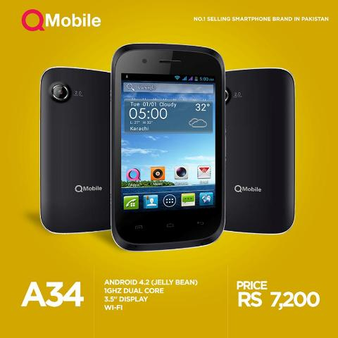 QMobile Noir A34 SPecs and Price In Pakistan