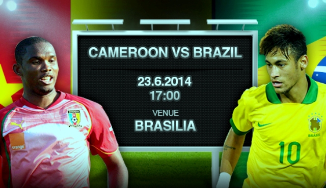 Cameroon VS Brazil live FIFA World Cup Streaming 23 June 2014