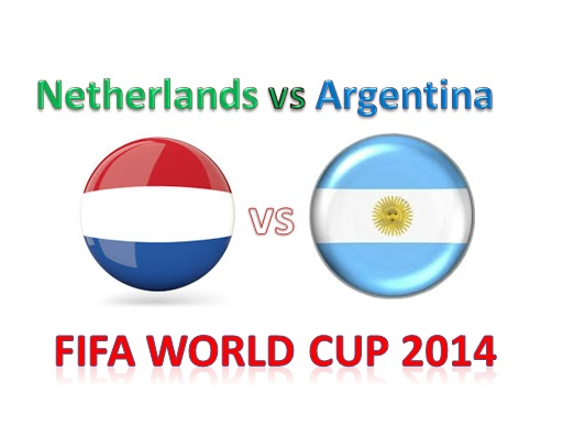 Netherlands vs Argentina 2nd Semi Final Fifa World Cup 2014 Live Streaming