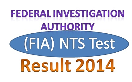 Online FIA (Federal Investigation Authority) NTS Test Result 2014