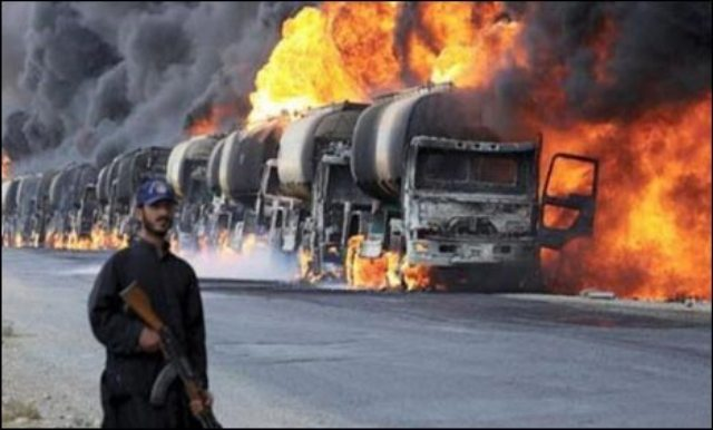 Over 400 oil tankers destroyed by Taliban in Kabul