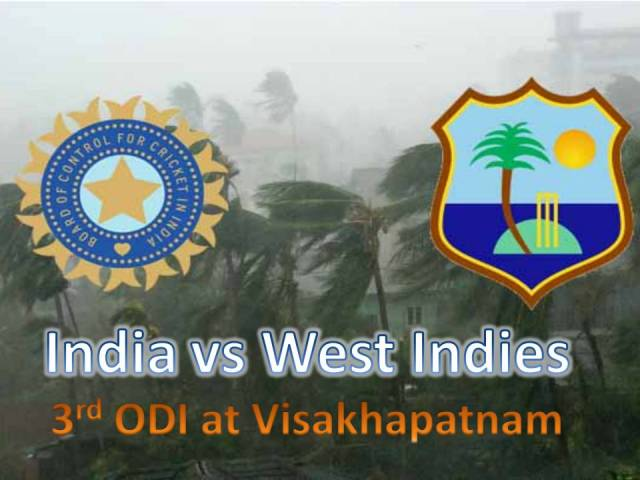 India Vs West Indies 3rd ODI at Visakhapatnam deserted
