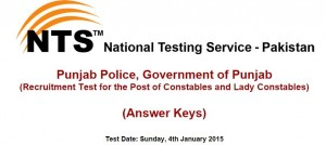 constable lady constable nts test result answer keys