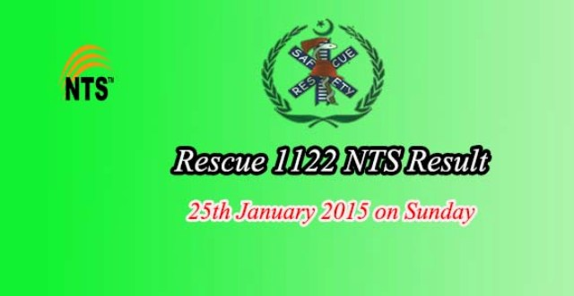 NTS test Result Answer keys Rescue 1122 Jobs 25 January