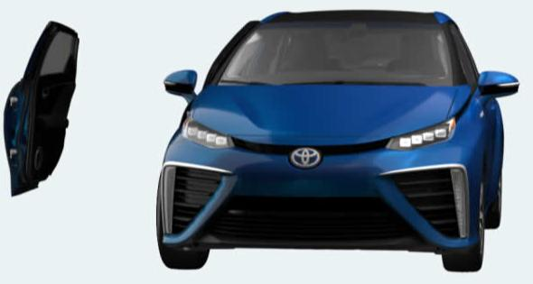 Toyota FCV look pictures