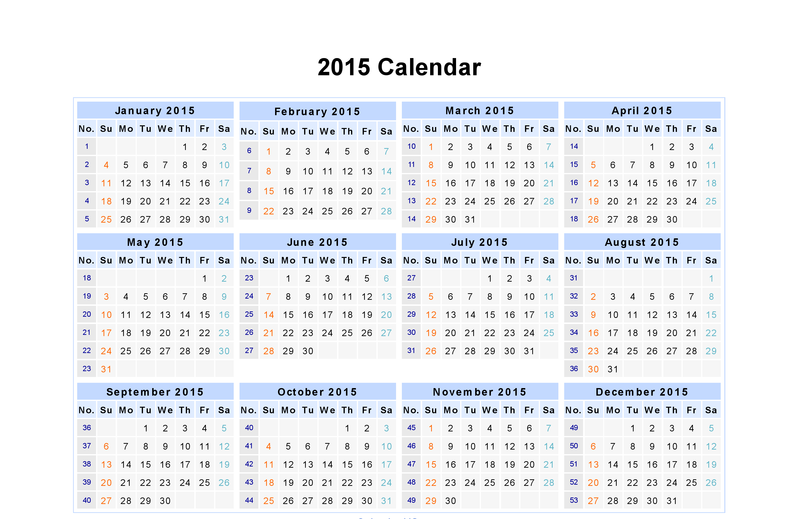 Monthly Calendar Year : Printable calendar by month whole year autos post