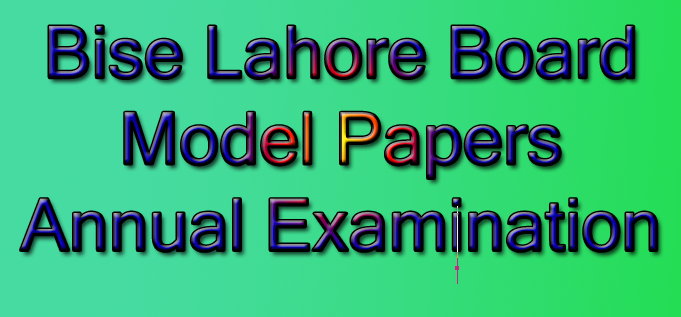 Annual examination 2015 model papers