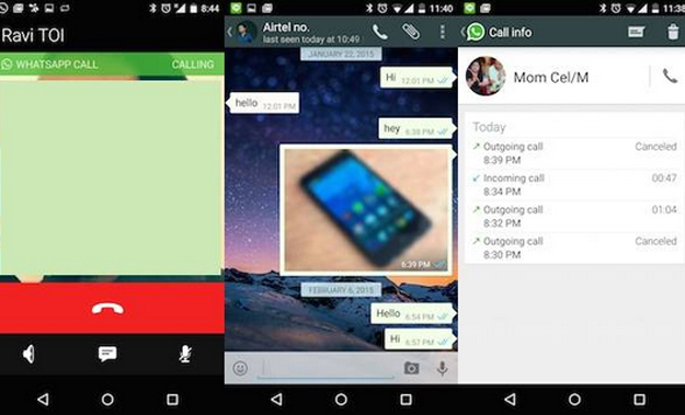 Whatsapp New Feature of Voice Call for Android Phone