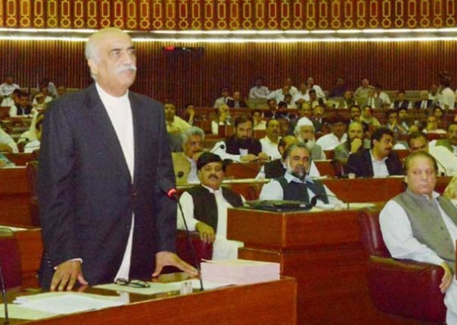 Khurshid Shah  For Inquiry Commission Report  Before National Assembly