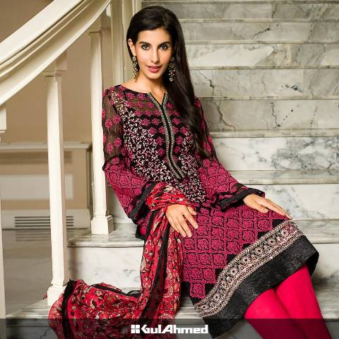 Gul Ahmed Chiffon Casual Wear Collection 2015