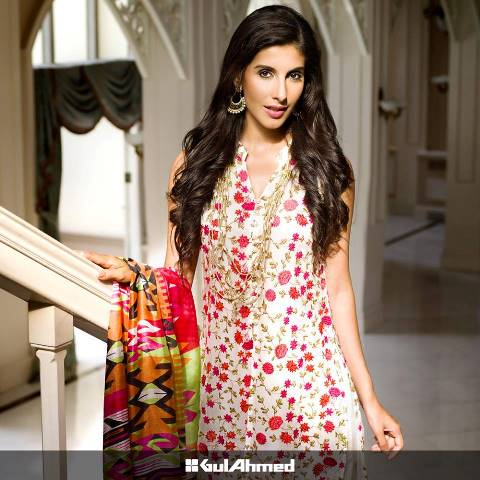 Gul Ahmed Festive Eid Limited Chiffon Collection 2015