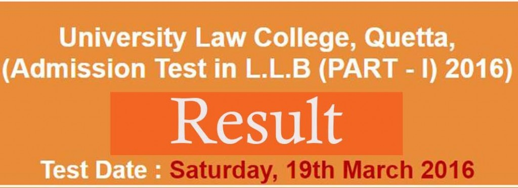 unversity law college quetta 19 march nts result